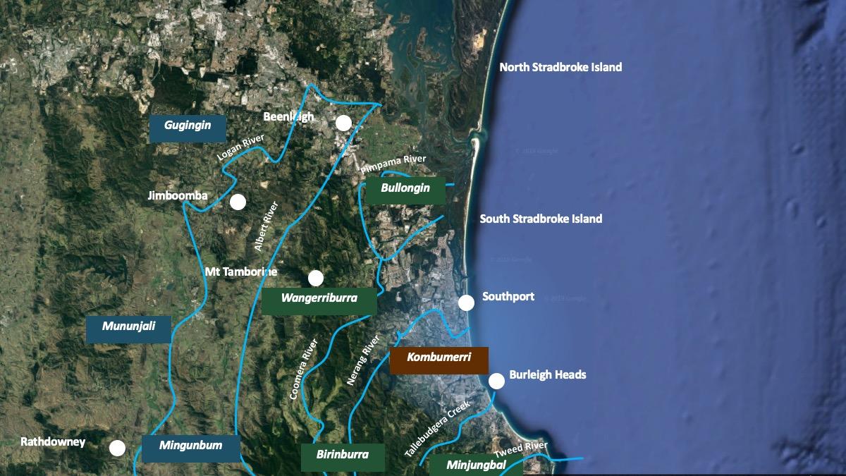 Kombumerri Peoples' cultural geographical boundaries